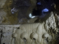 Höhlenbad-Sedimentformationen