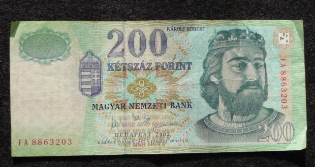 200 Forint: veraltete Banknote