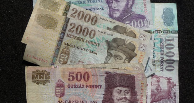 Presently valid Forint banknotes