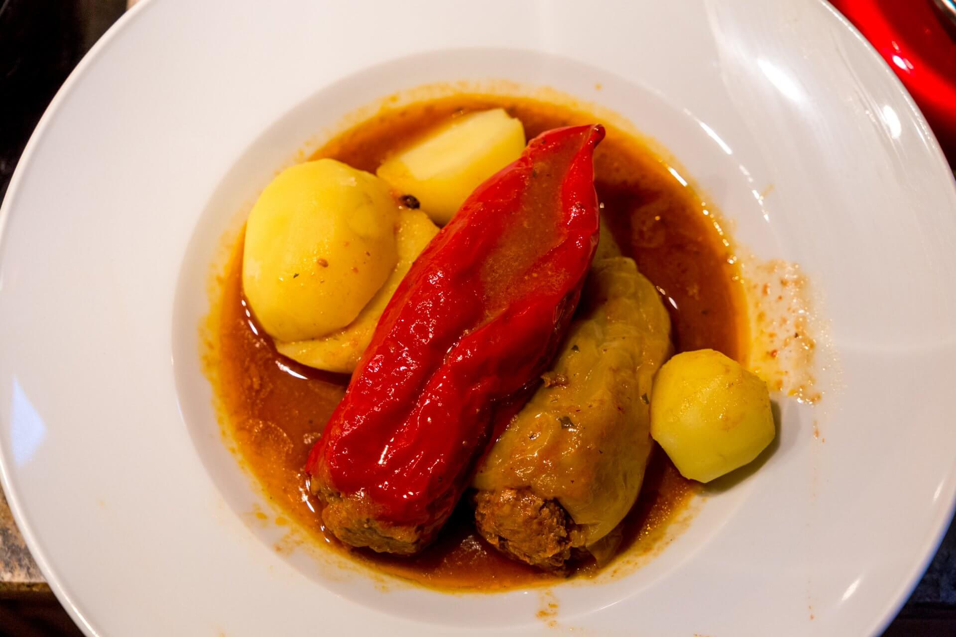 Gefüllte Paprika mit Kartoffeln