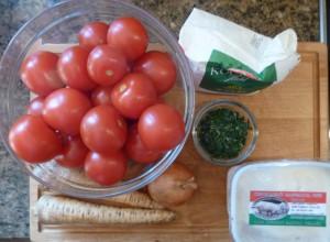 Zutaten für Tomatensauce