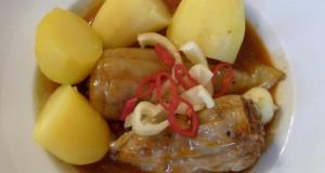 Gefüllte Paprika (Töltött paprika), Serviervorschlag