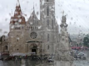 Burghotel, Ausicht bei Regen