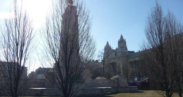 Budapest, Szabadság tér im Winter