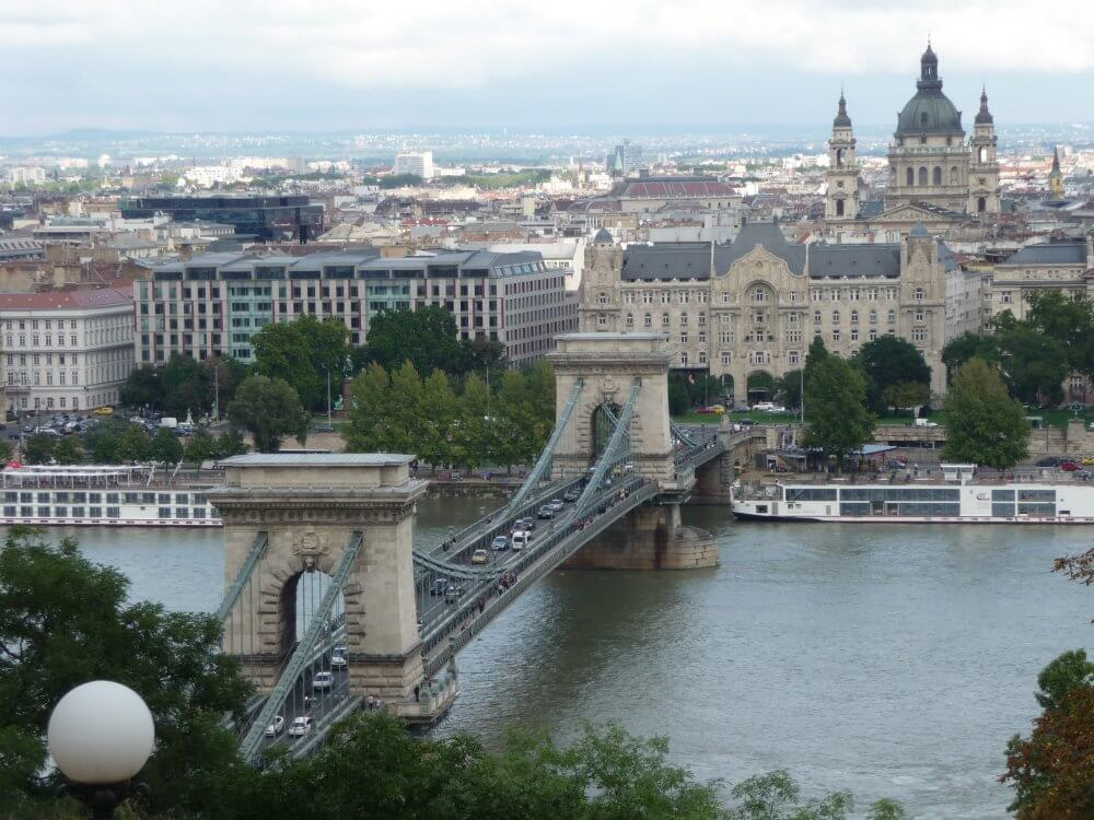 Budapest, Donaupanorama mit Kettenbrücke