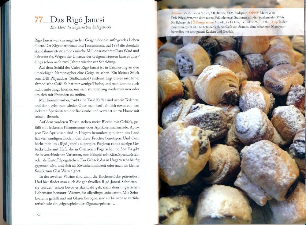 111 Orte in Budapest –das Café Rigó Jancsi