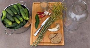 Zutaten für ungarische Salzgurken