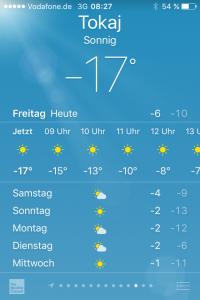 Wetter-App auf dem iPhone
