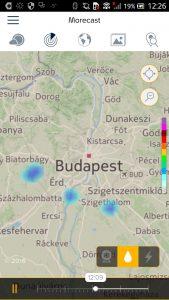 Morecast Regenrader unter Android