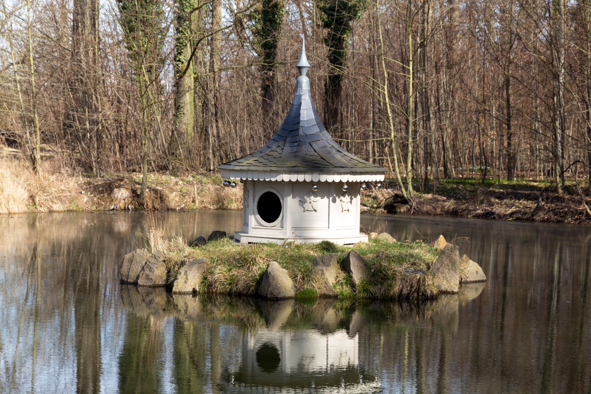 Ententeich im Schlosspark Lützschena