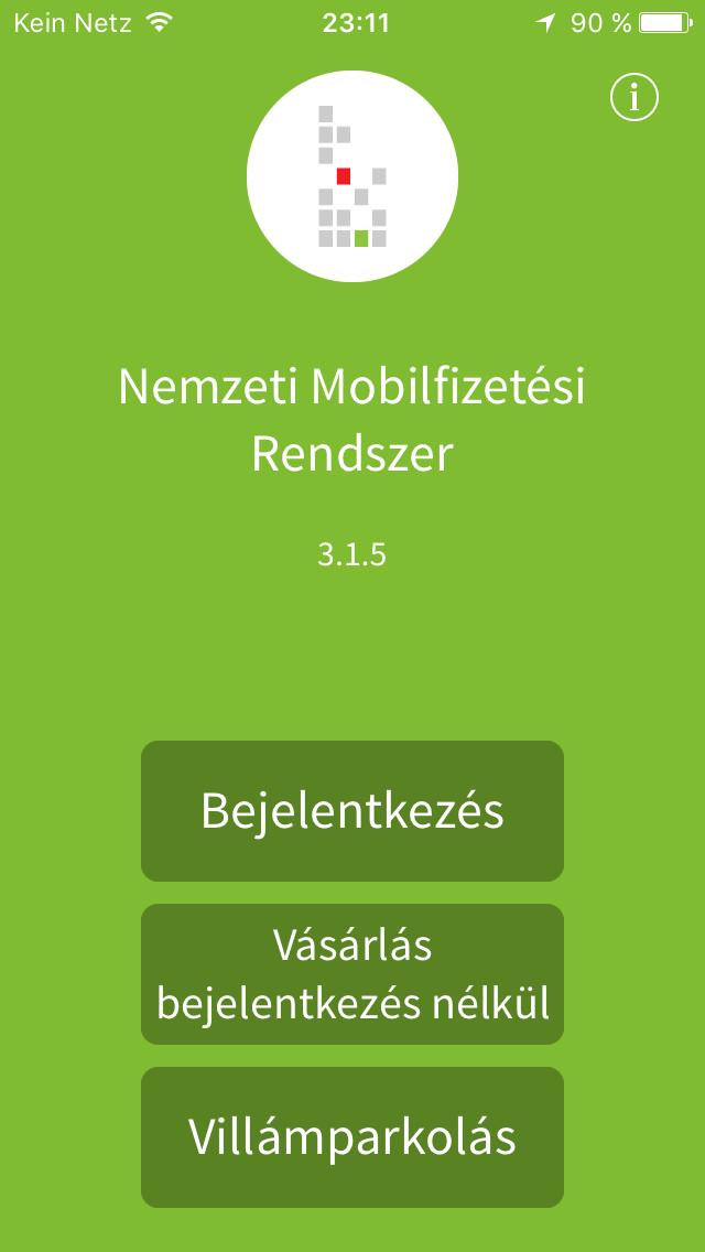 App-Startdialog auf Ungarisch