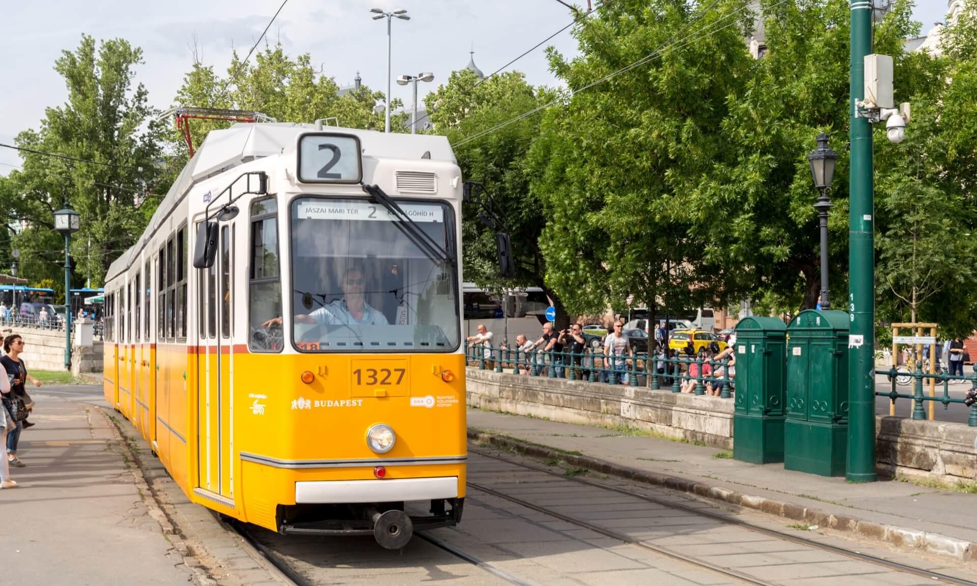 Tram 2 in Budapest