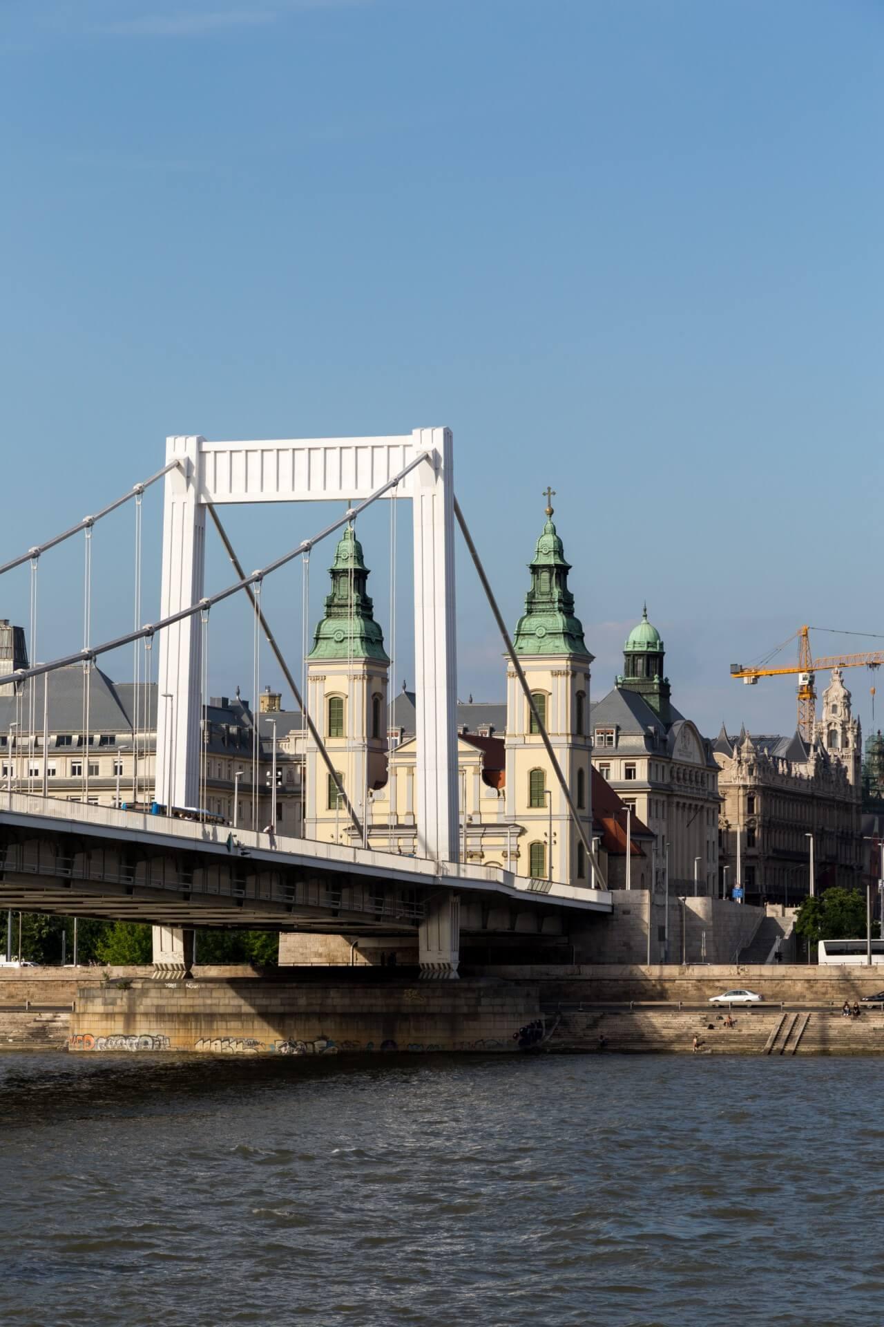 Elisabethbrücke (Erzsébet híd) Budapest, Ostseite