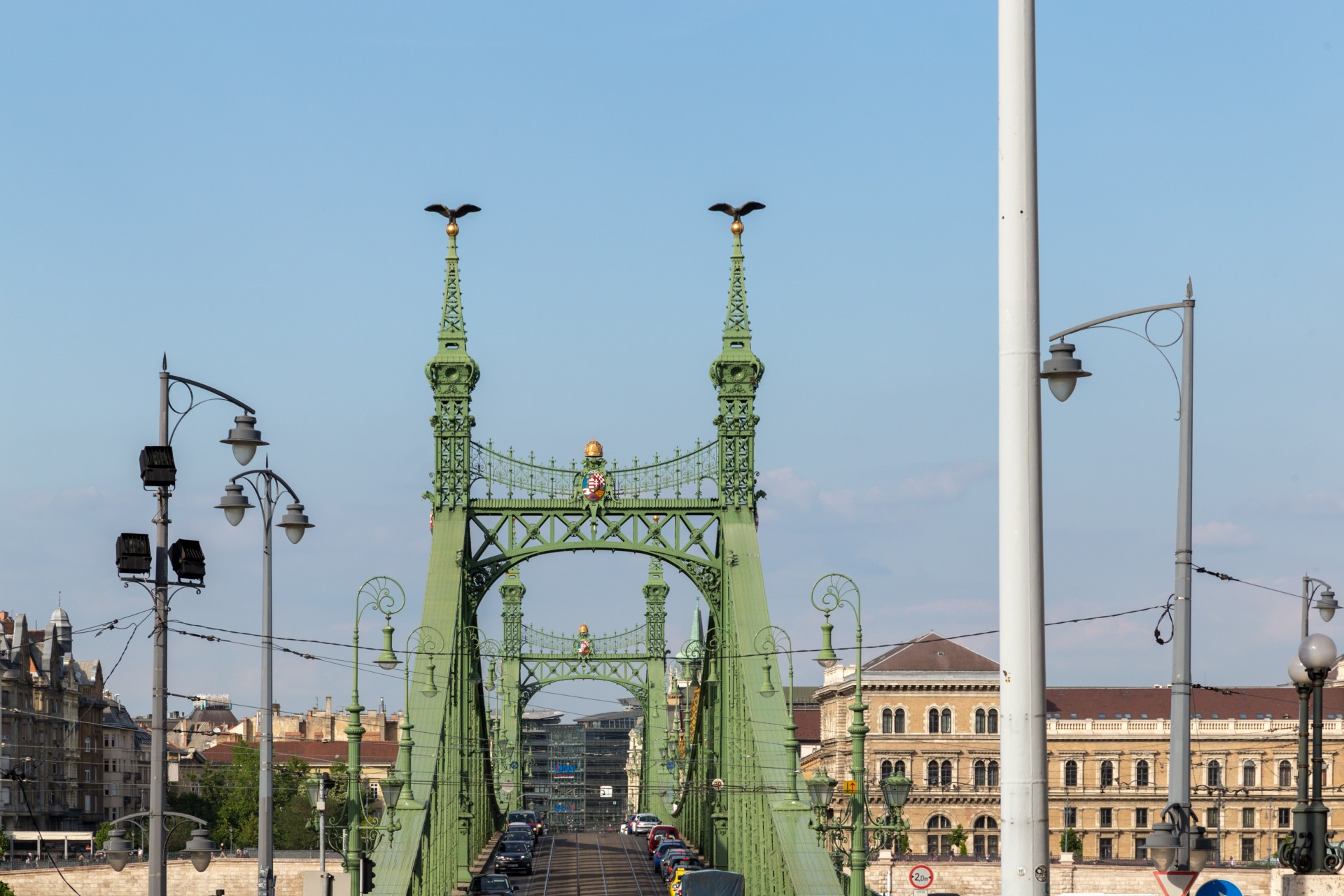 Freiheitsbrücke (Szabadság híd) vom Gellért aus gesehen