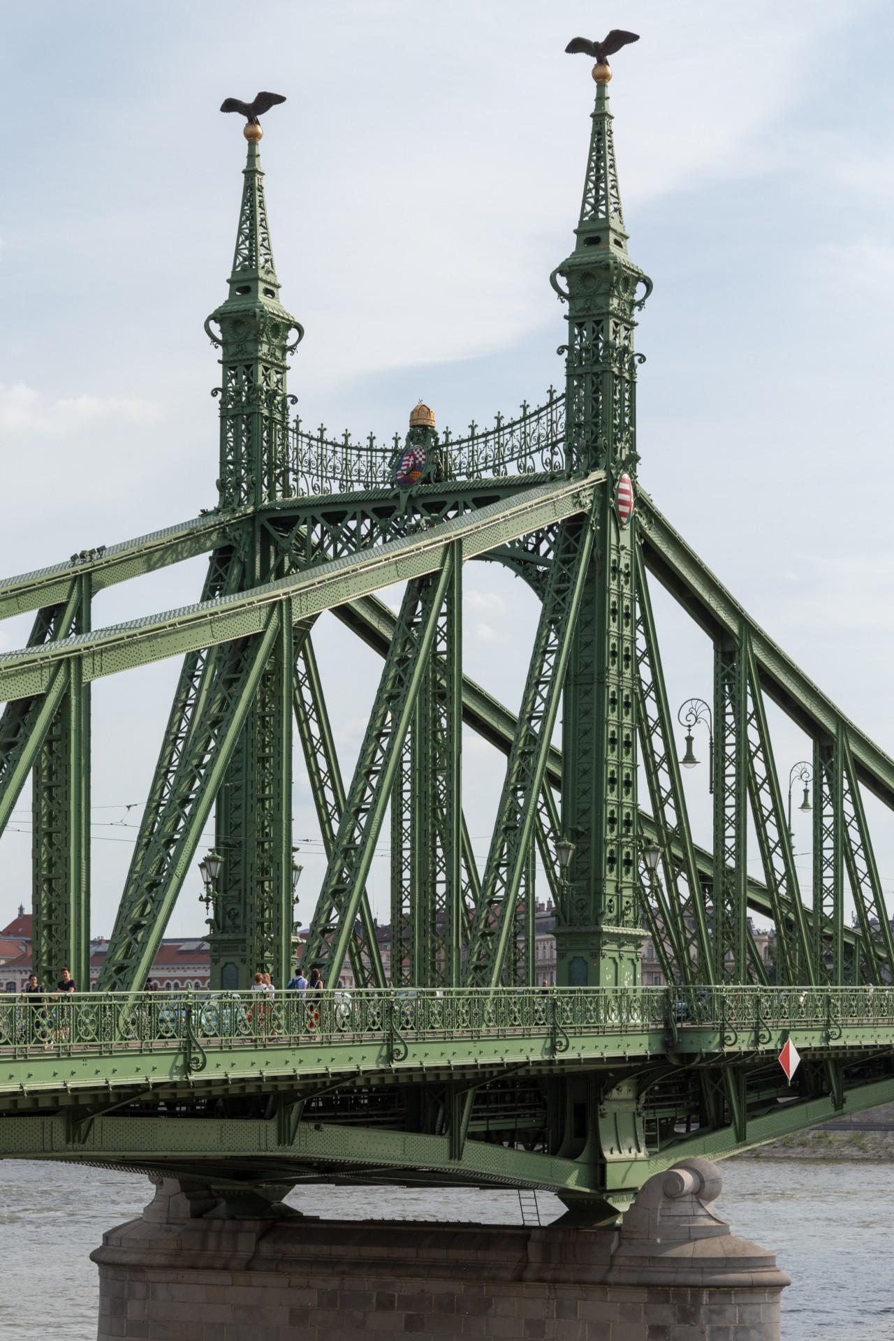 Konstruktion der Freiheitsbrücke (Szabadság híd) Budapest