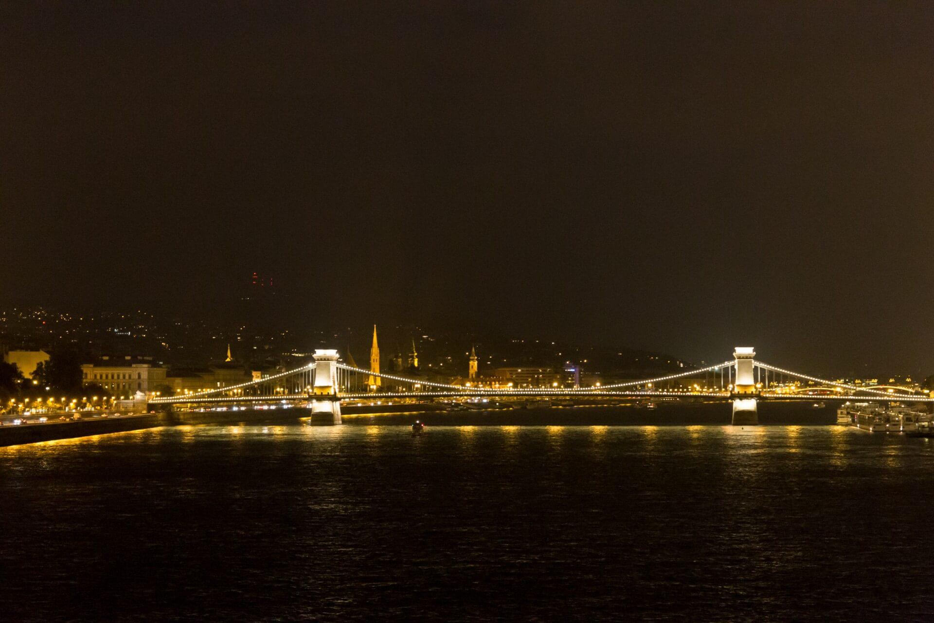 Kettenbrücke Budapest nachts