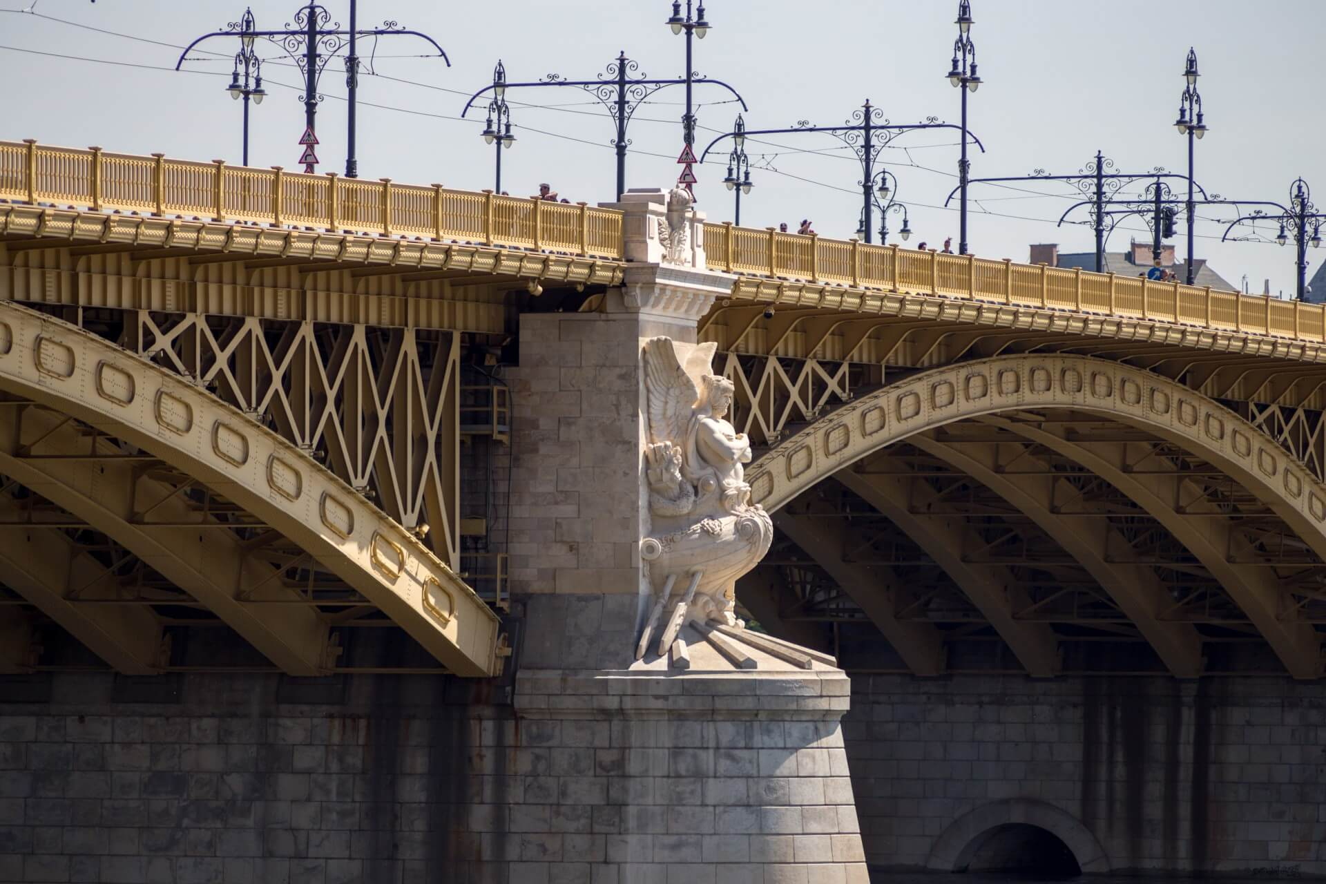 Detail der Margaretenbrücke (Margit híd) Budapest