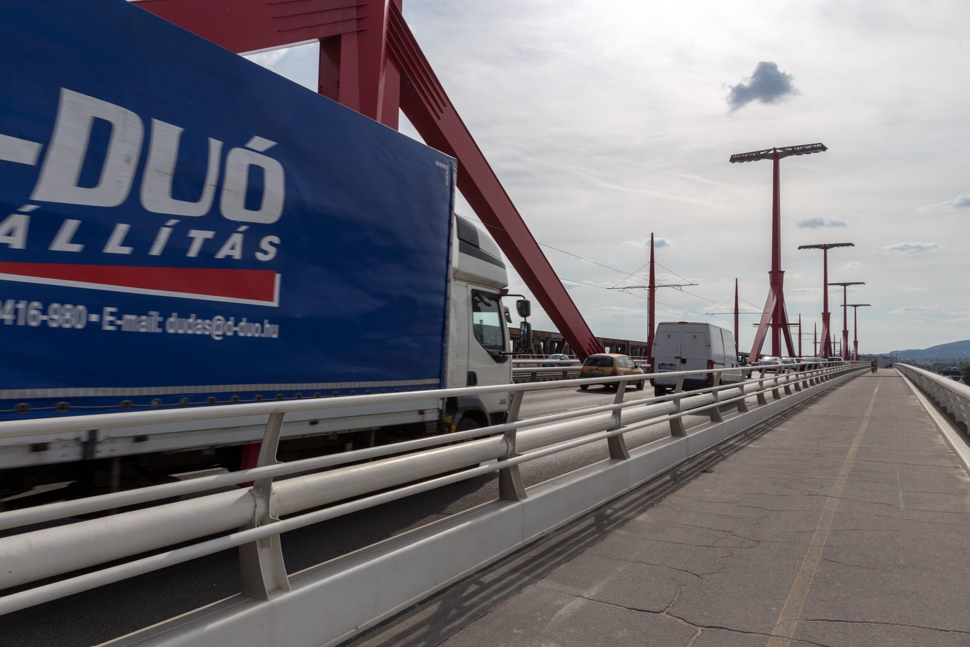 Verkehr auf der Rakoczi híd