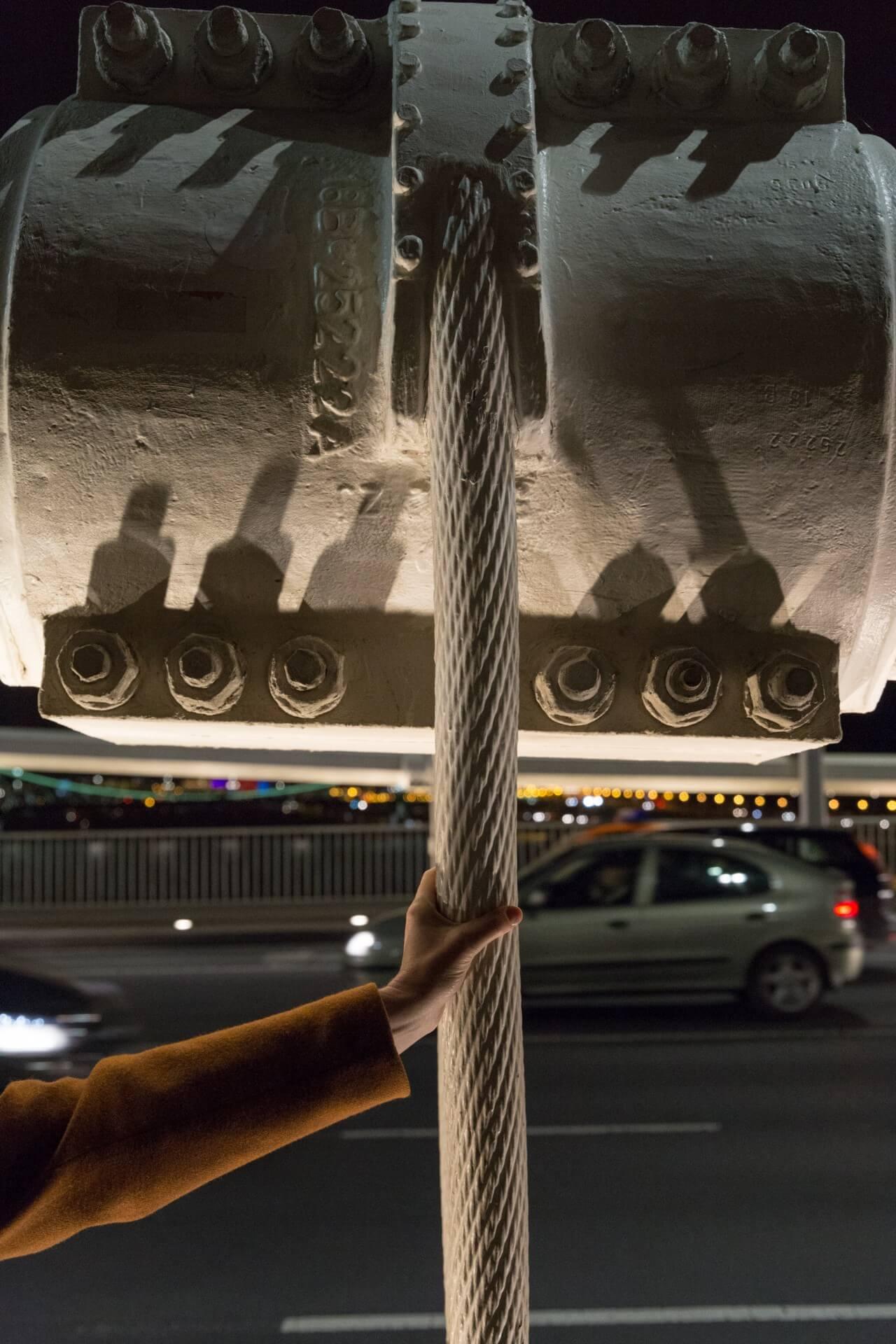 Seile der Elisabethbrücke (Erzsébet híd) Budapest