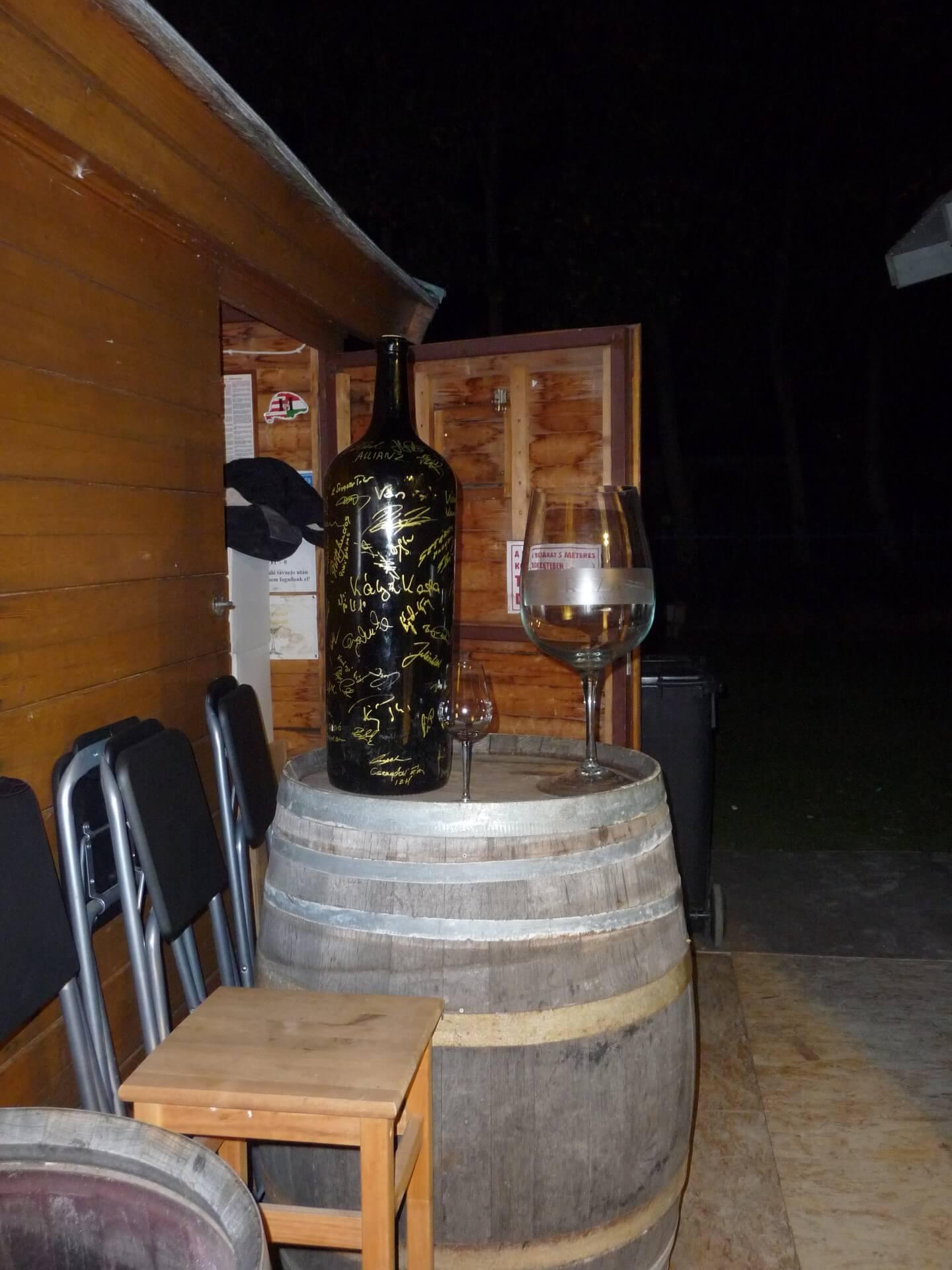 Großflasche in Balatonfüred