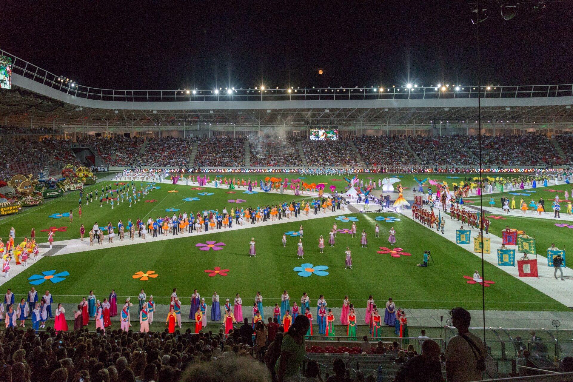 Blumenkarneval Debrecen, Gesamteindruck im Stadion