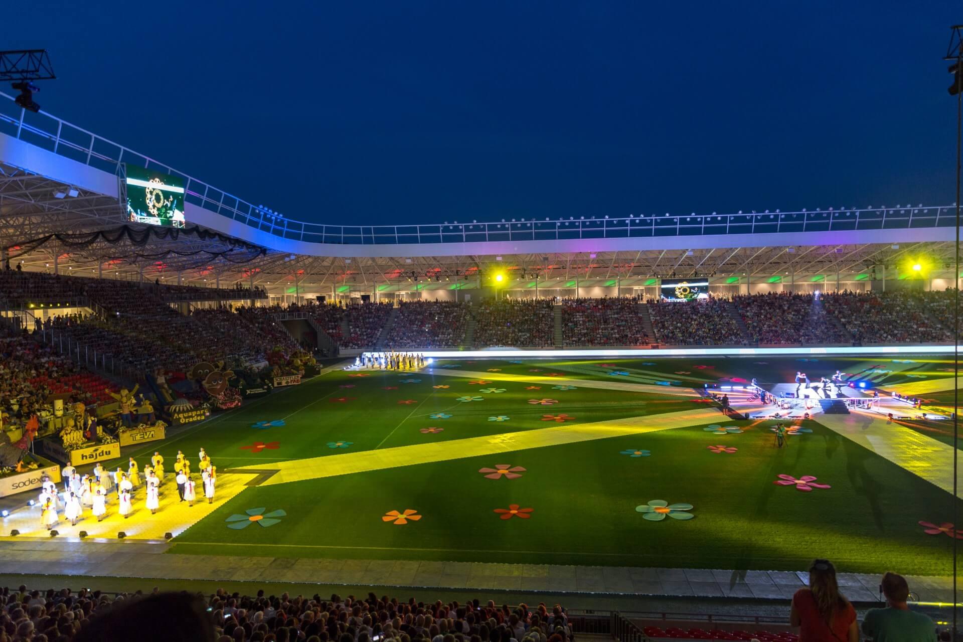 Blumenkarneval Debrecen, Stadionstimmung