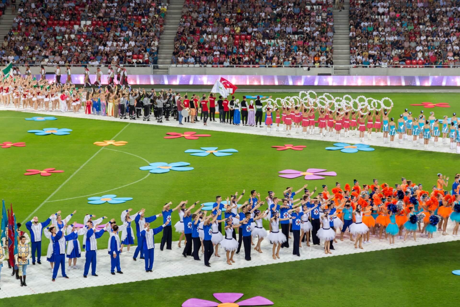 Blumenkarneval Debrecen, im Stadion