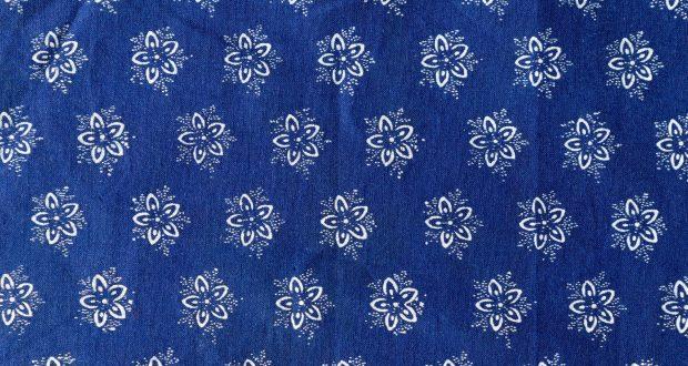 Blaudruck-Decke