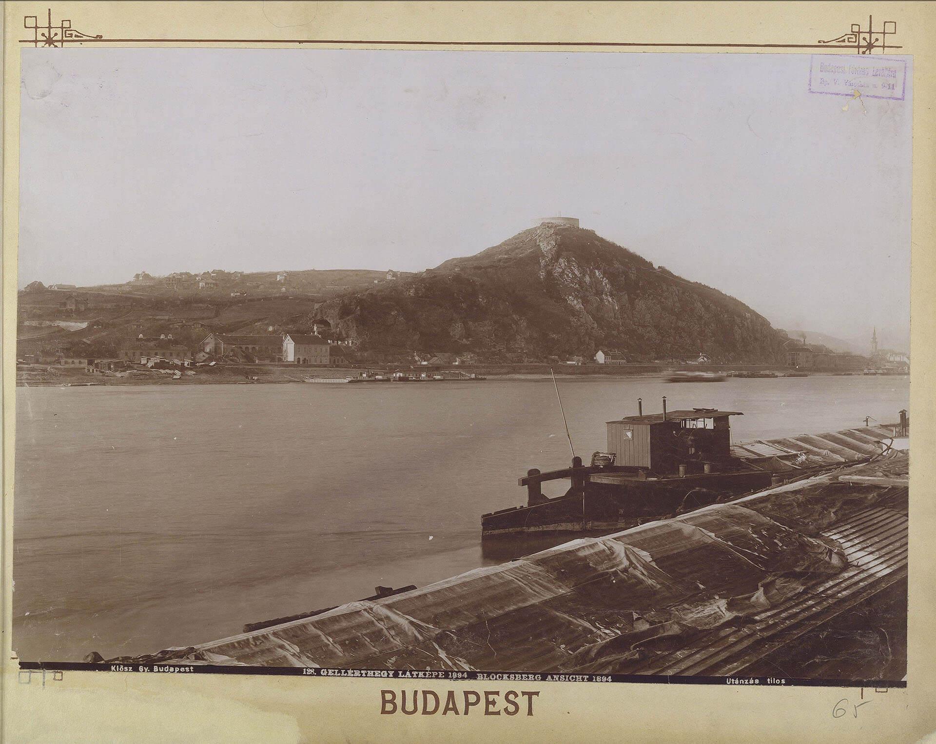 Gellértberg mit altem Bad Sáros fürdö