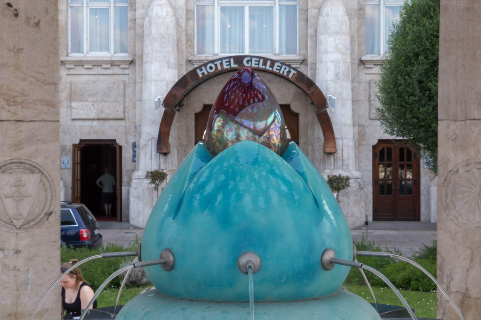 Brunnen vor Hotel Gellért Budapest