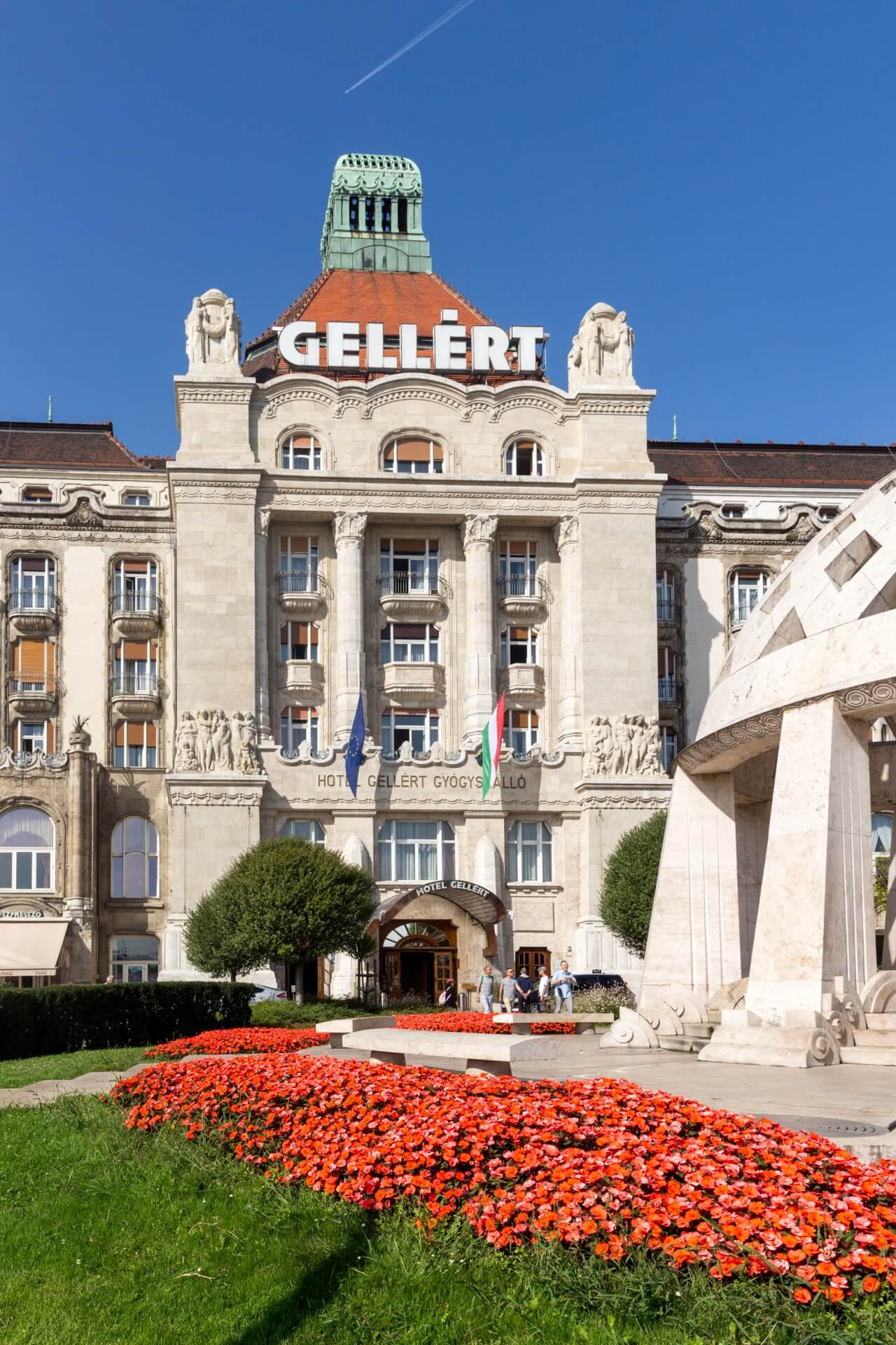 Portal vom Hotel Gellért Budapest