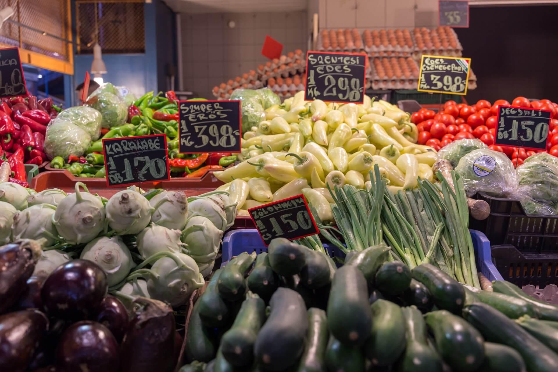 Paprika in der Markthalle Budapest