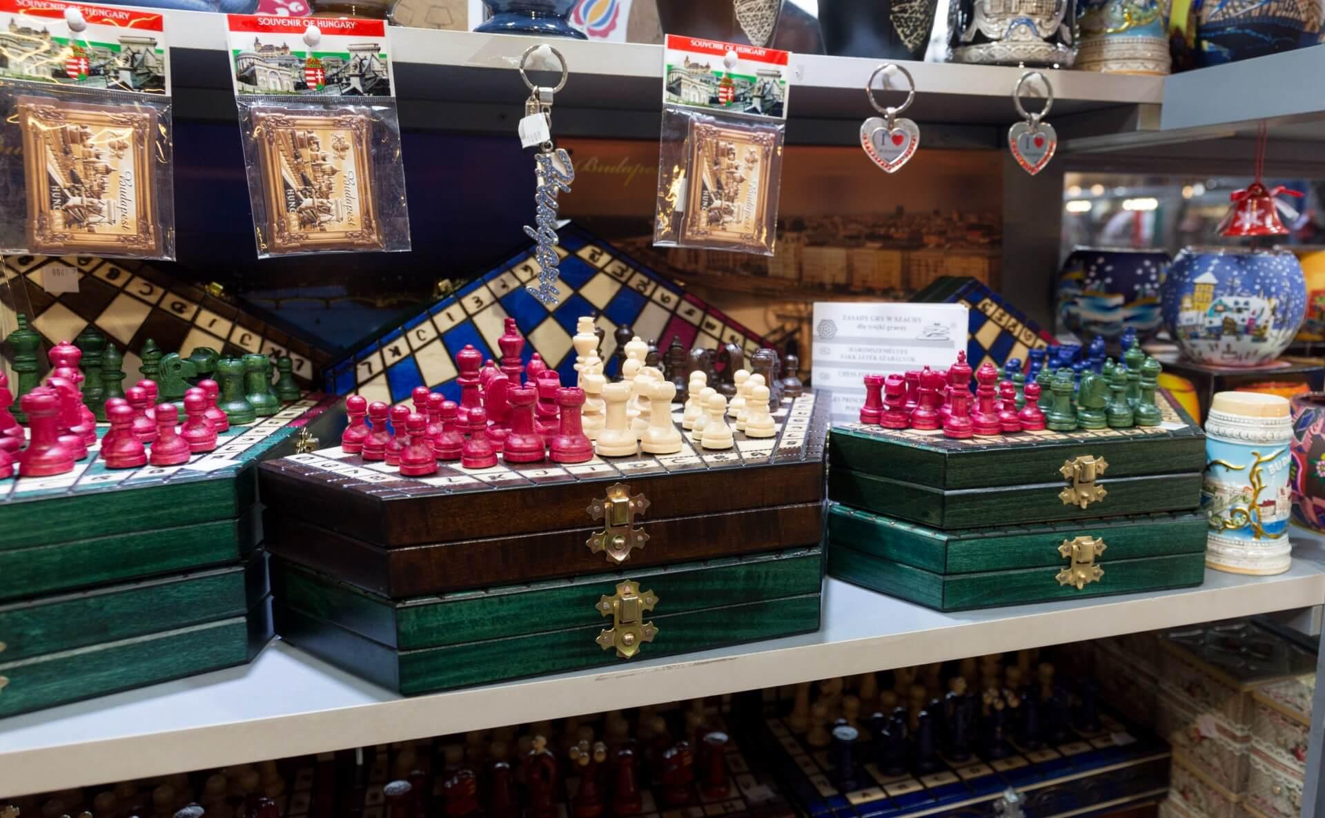 Schachspiel, Markthalle Budapest