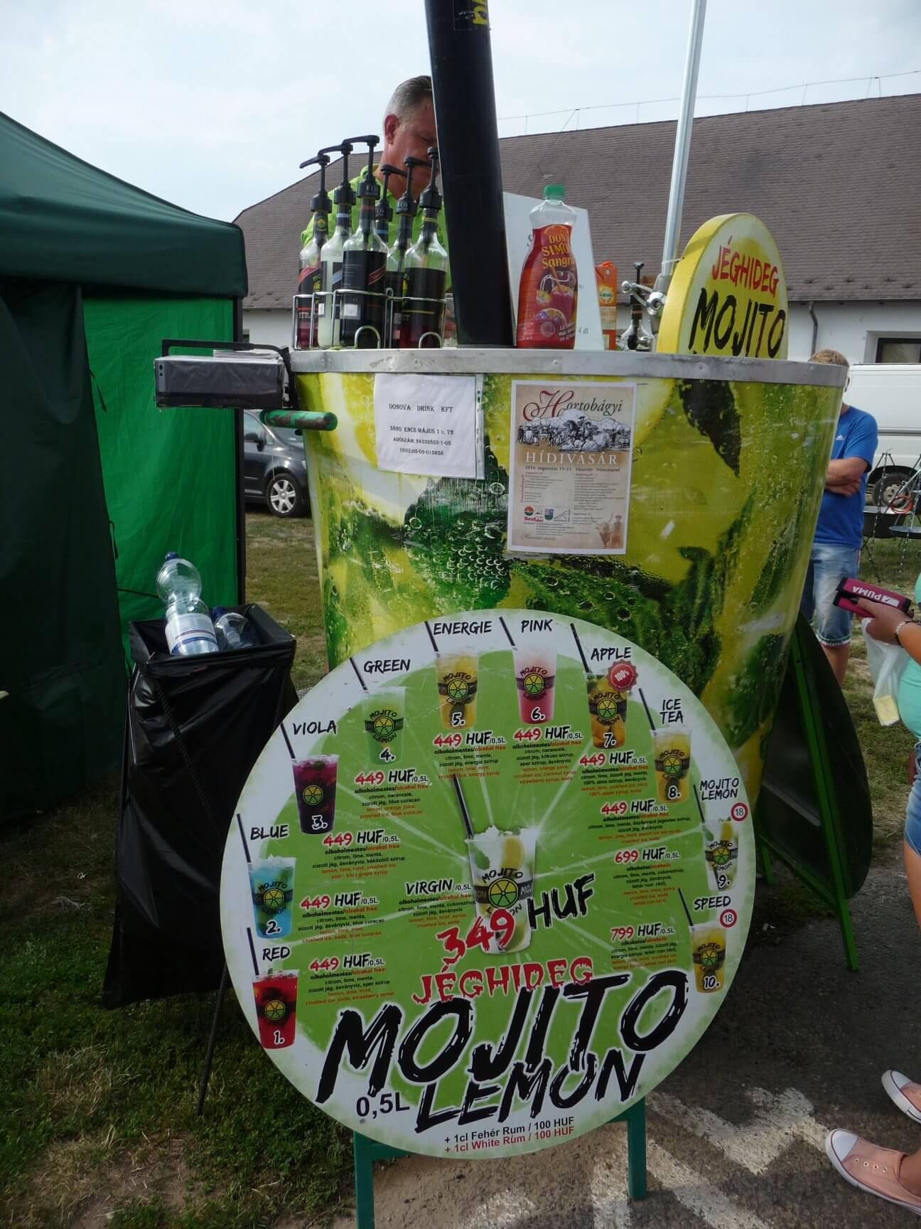 Mojito-Stand, Brückenmarkt Hortobágy