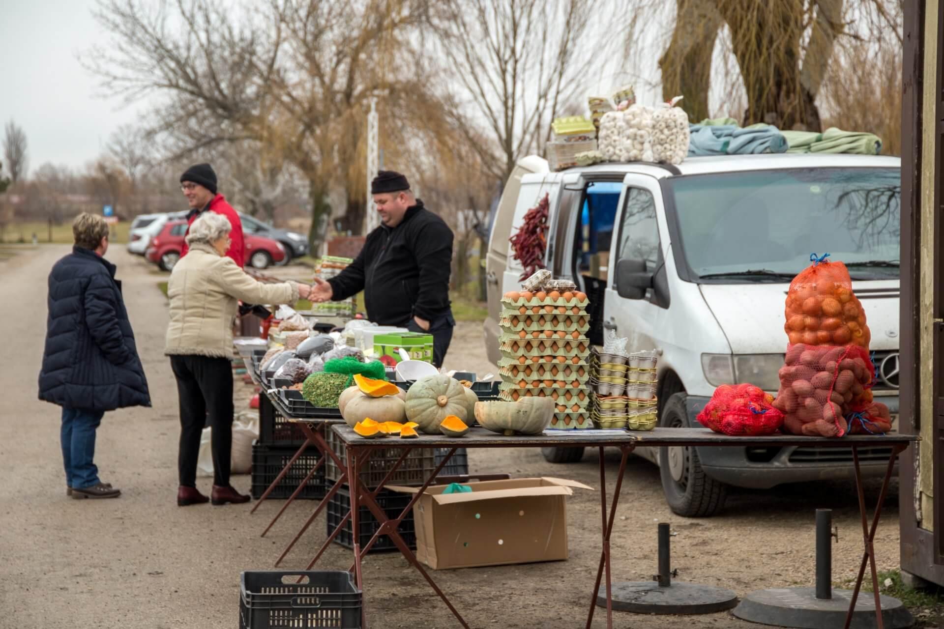 Marktstand in Fonyód