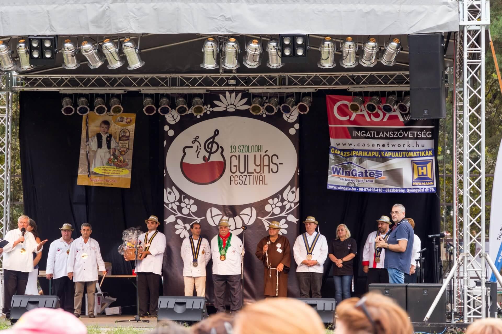 Siegerehrung beim Gulaschfest Szolnok
