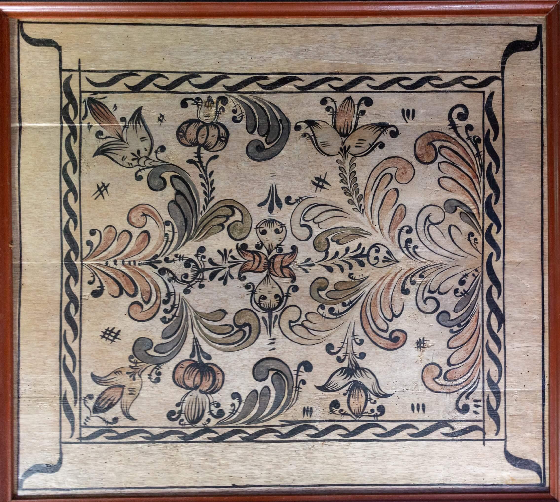 Decken-Holztafel in Tákos