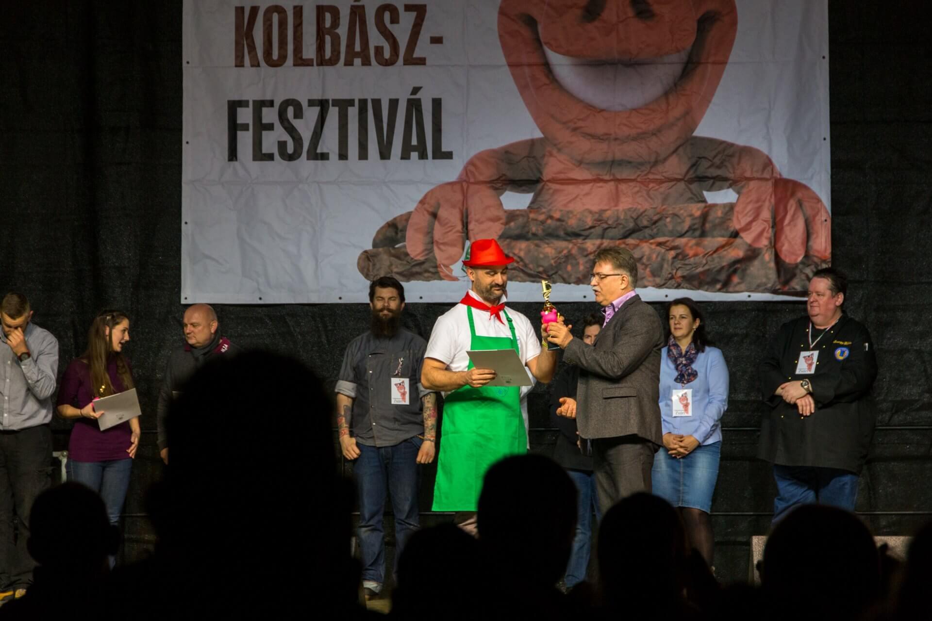Siegerehrung beim Wurstfest Fonyód
