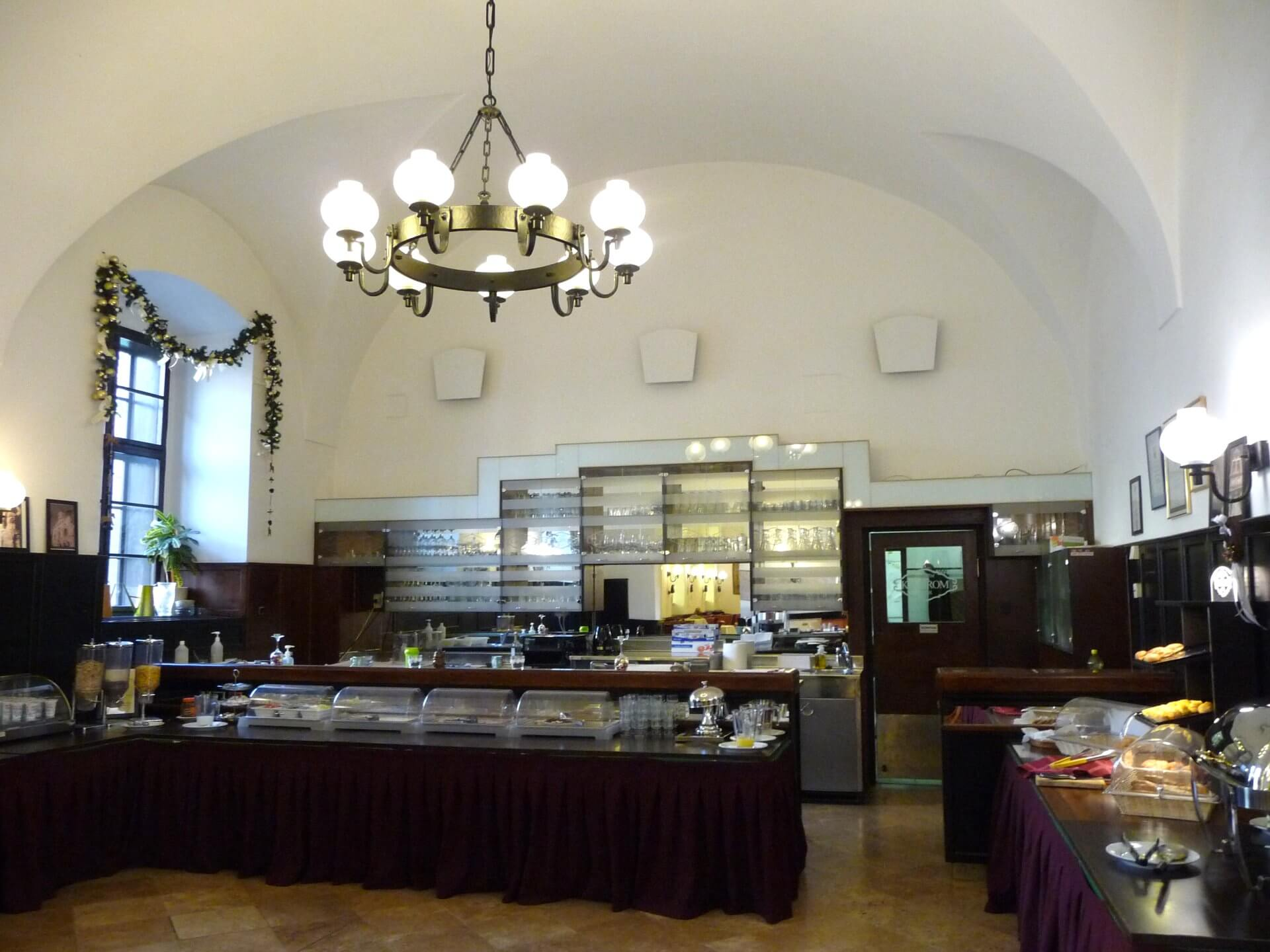 Frühstücksbuffet im Hotel Klastrum Győr
