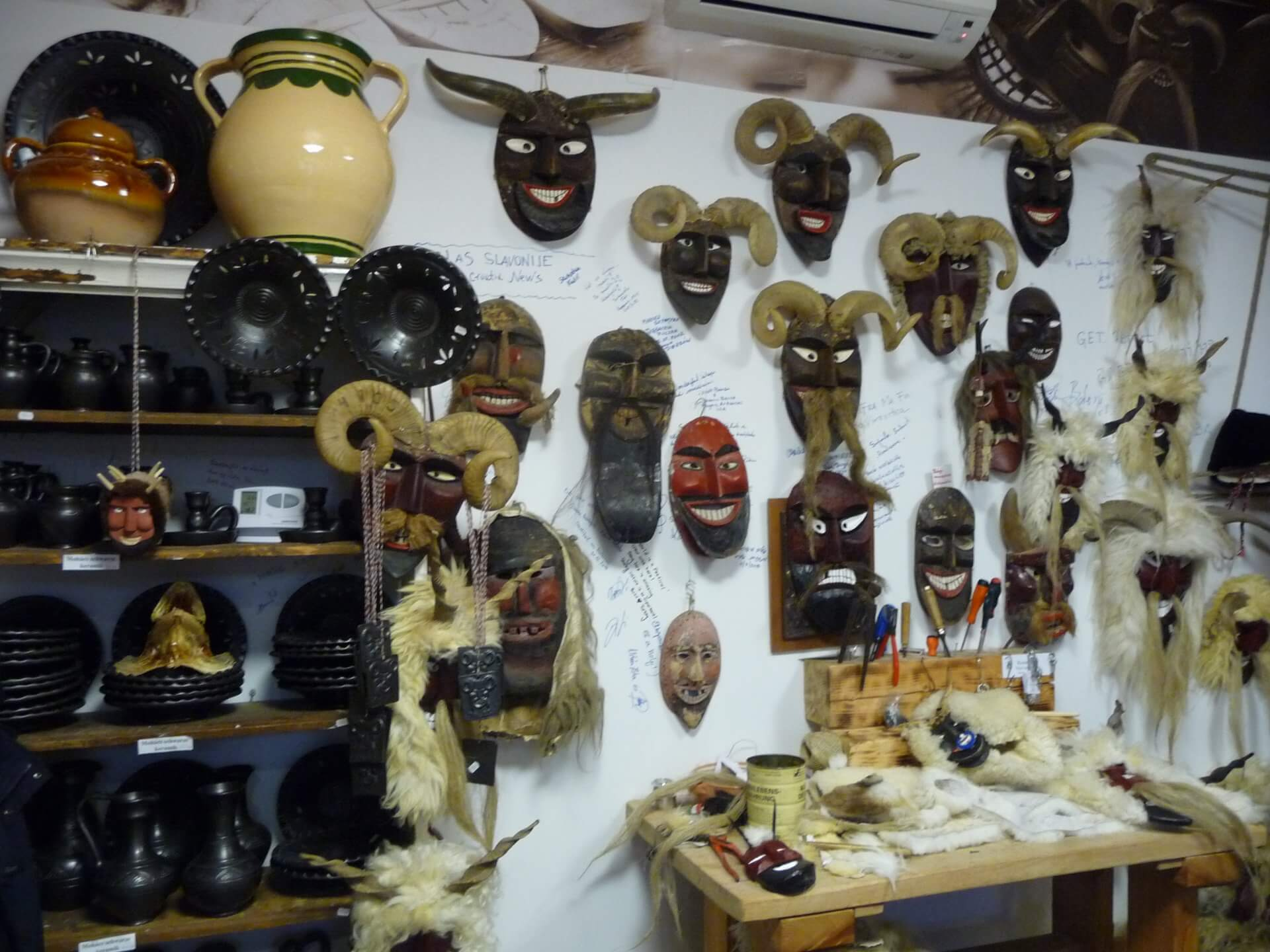 Masken im Buscho-Museum Mohács