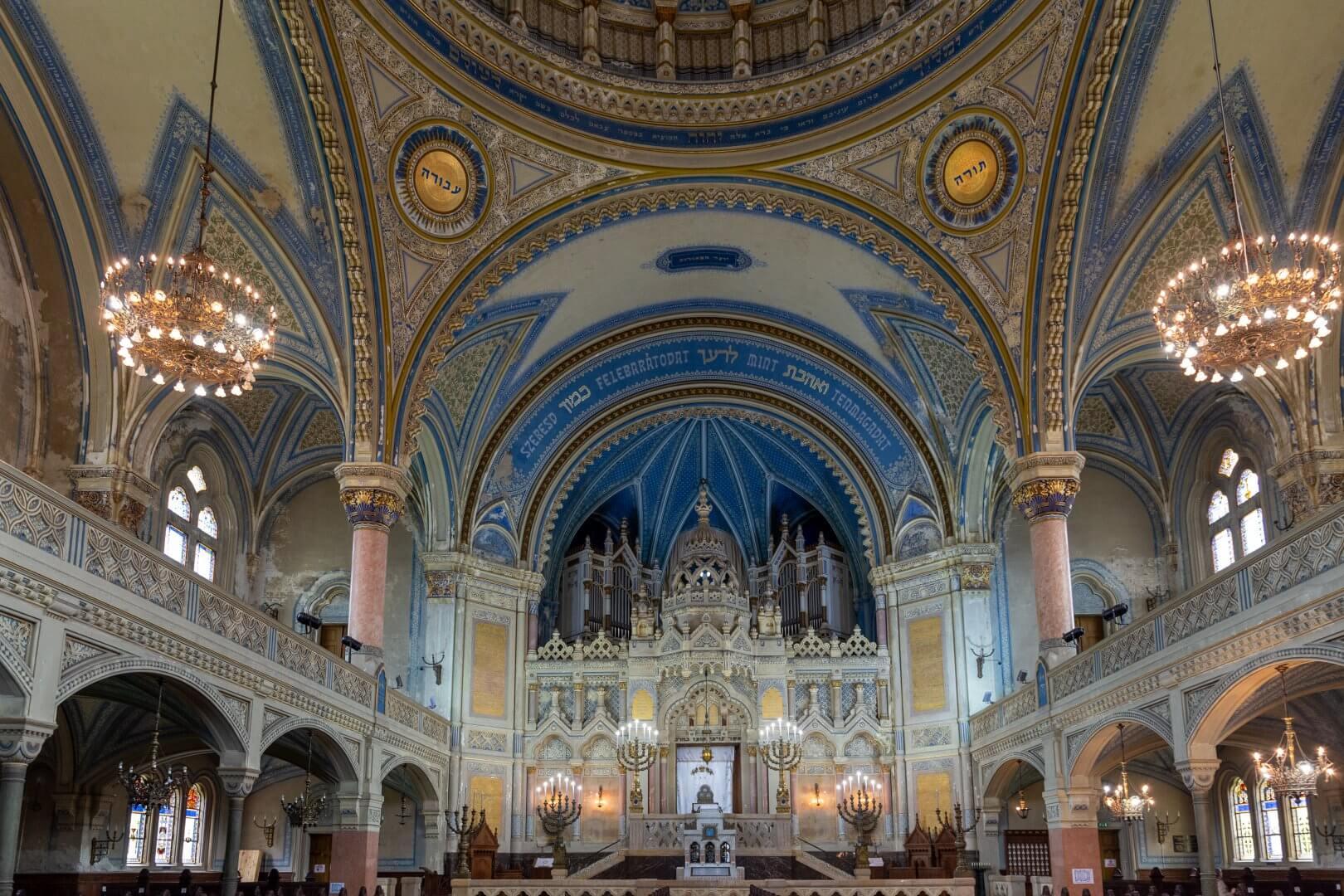 Neue Synagoge Szeged, Innenansicht