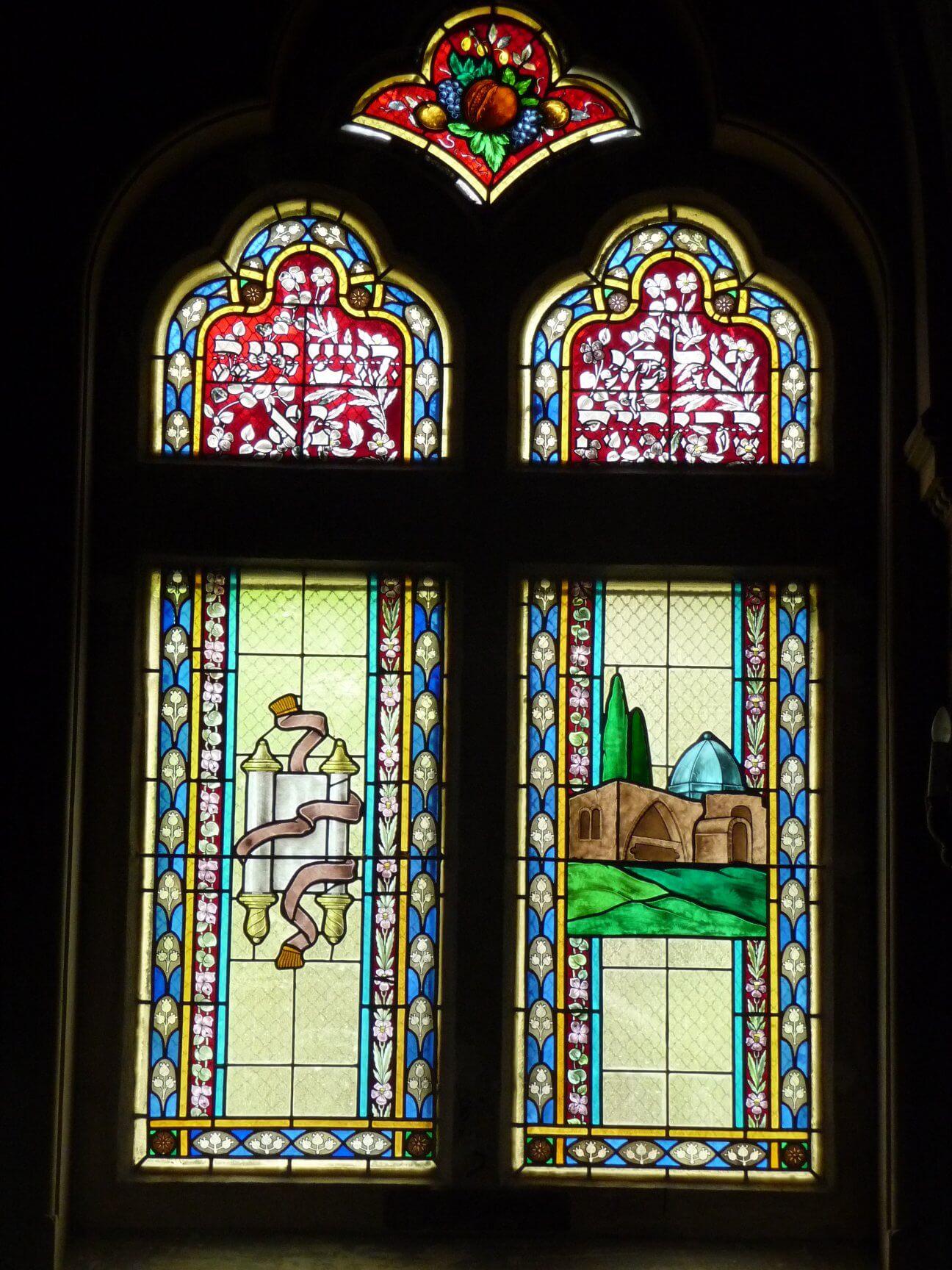 Weitere Glasfenster, Synagoge Szeged