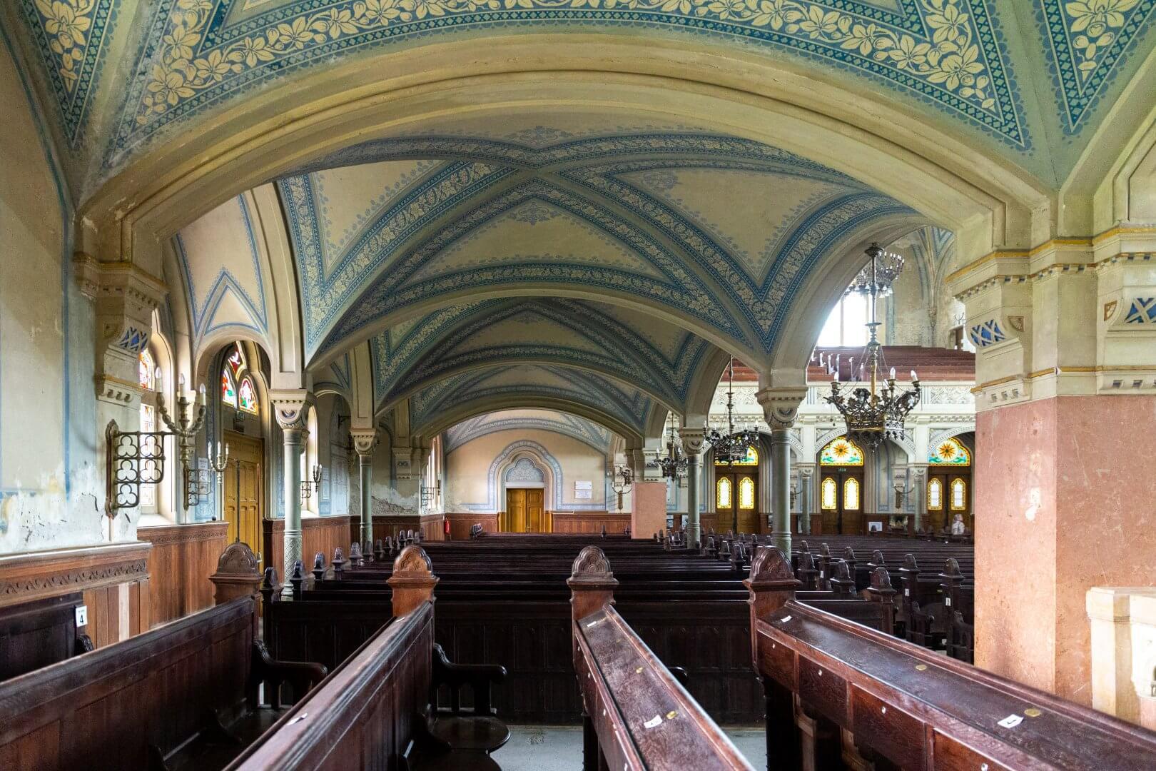 Seitenbereich in der neuen Synagoge Szeged