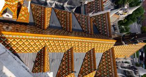 Dach der Matthiaskirche Budapest
