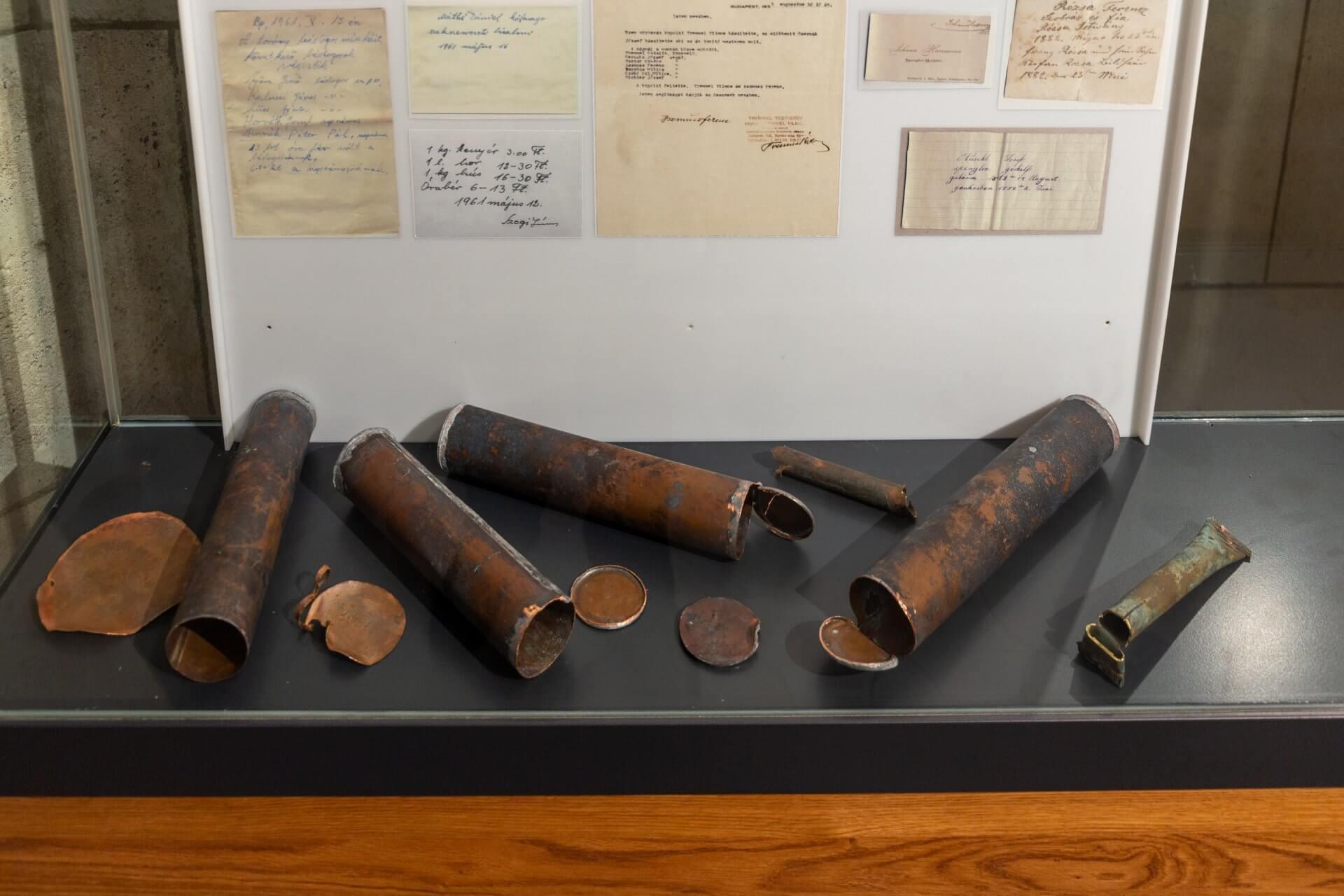 Alte Dokumente im Matthiasturm