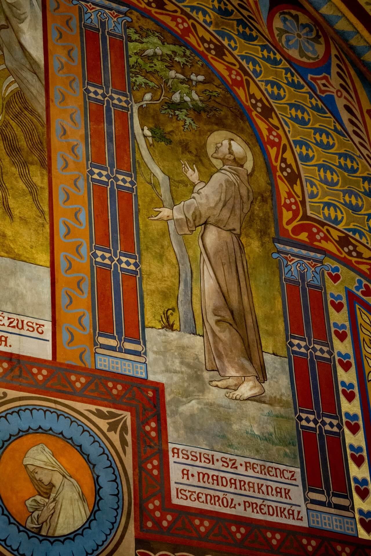 Franziskus in der Emmerich-Kapelle