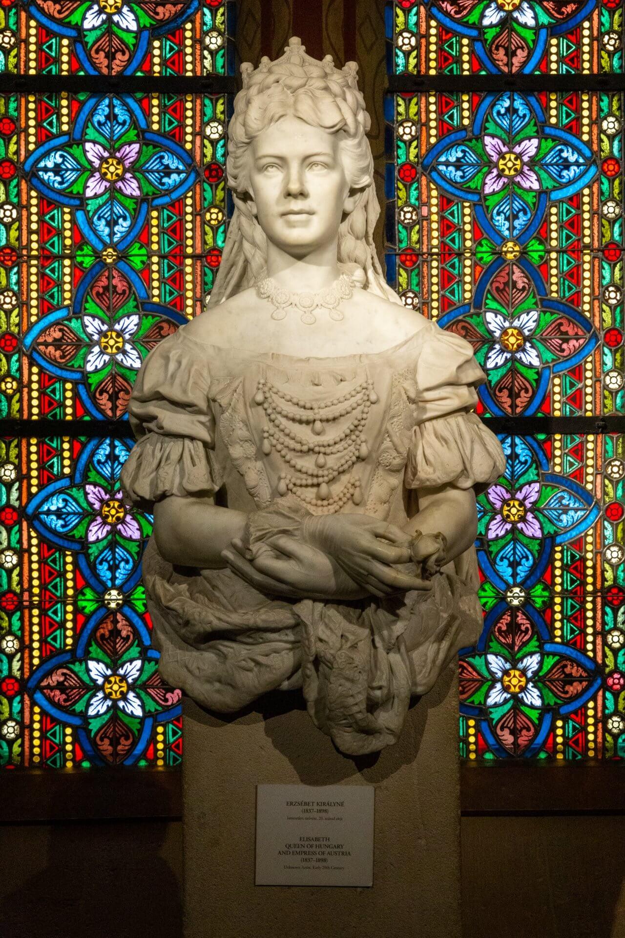 Sissi-Skulptur, Museum der Matthiaskirche Budapest