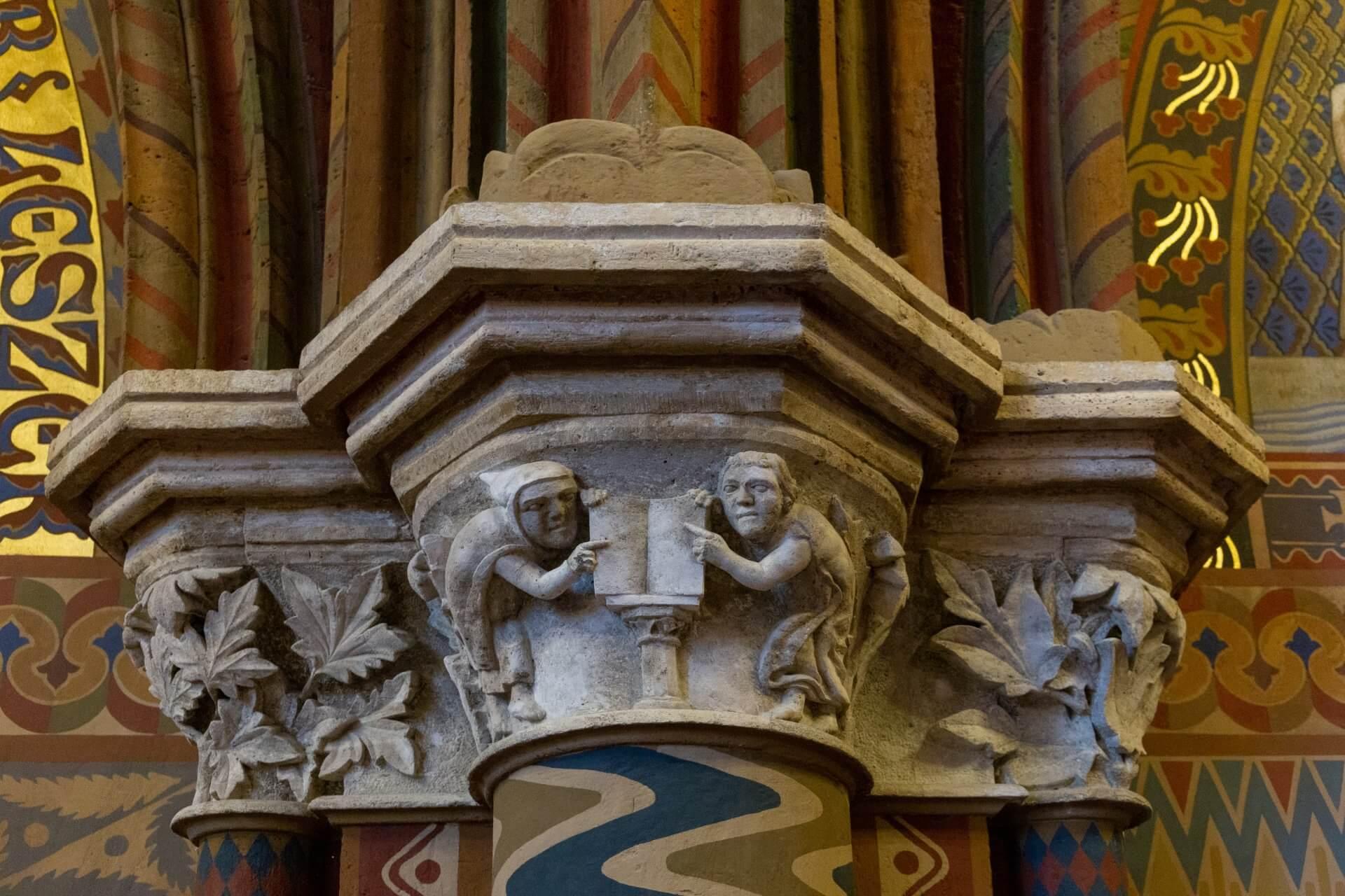 Romanisches Kapitell in der Matthiaskirche