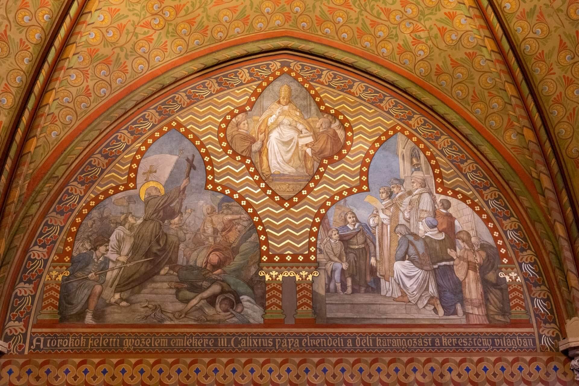 Fresko von Károly Lotz in der Matthiaskirche