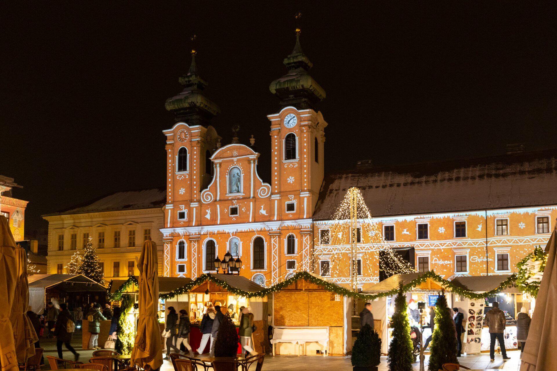Széchenyi tér Györ im Advent